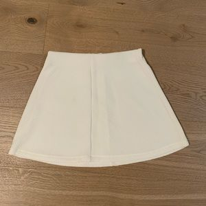 Zara stretchy white mini skirt